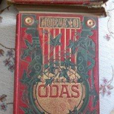 Libros antiguos: ODAS DE Q. HORACIO, 1882. Lote 125417075