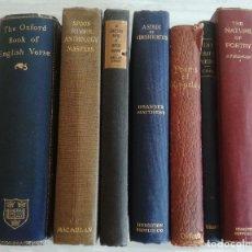 Libros antiguos: 7 LIBROS DE POESÍA DE MÁS 100 AÑOS (1892-1916)- STEDMAN, QUILLER-COUCH, KINGSLEY, BROOKE, MASTERS.... Lote 125862507