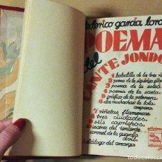 Libros antiguos: POEMA DEL CANTE JONDO / FEDERICO GARCÍA LORCA. MADRID ; BUENOS AIRES: EDICIONES ULISES, 1931. 1ª ED.. Lote 125864543