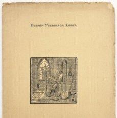 Libri antichi: POEMA DE NAVARRA. - YZURDIAGA LORCA, FERMÍN. PAMPLONA, 1927.. Lote 123261698