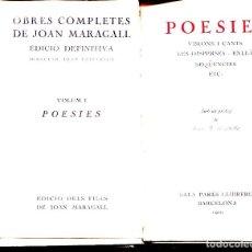 Libros antiguos: POESIES-VISIONS I CANTS-LES DISPERSES ETC- VOLUM I- ANY 1929-SALA PARÉS LLIBRERIA. Lote 126300435