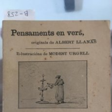 Libros antiguos: PENSAMENTS EN VERS, LLANAS, ALBERT, 1895. Lote 58524789