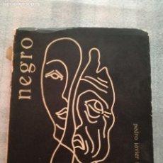Libros antiguos: [AUTÓGRAFO] PEDRO JAVIER MARTÍNEZ. NEGRO (POEMAS A UNA NOVIA MUERTA).. Lote 126986355