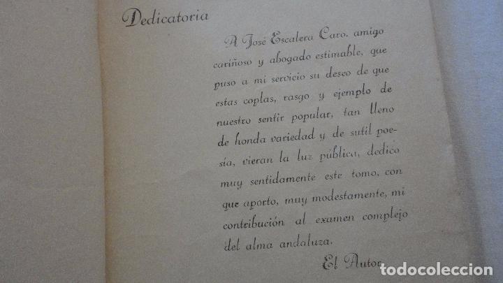 Libros antiguos: PEDRO DEL ARBOL.ALMA DE ANDALUCIA.CANTARES.SEVILLA 1933. SERRANAS.SOLEARES.FANDANGOS - Foto 3 - 127262451