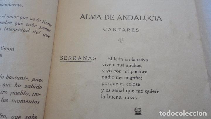 Libros antiguos: PEDRO DEL ARBOL.ALMA DE ANDALUCIA.CANTARES.SEVILLA 1933. SERRANAS.SOLEARES.FANDANGOS - Foto 8 - 127262451