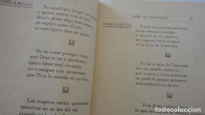 Libros antiguos: PEDRO DEL ARBOL.ALMA DE ANDALUCIA.CANTARES.SEVILLA 1933. SERRANAS.SOLEARES.FANDANGOS - Foto 11 - 127262451