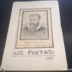 Libros antiguos: LOS POETAS. 1929. GARCILASO DE LA VEGA. ILUSTRACIONES PEDRAZA OSTOS.. Lote 127517499