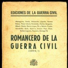 Libros antiguos: ROMANCERO DE LA GUERRA CIVIL - 1936. Lote 127679651
