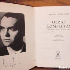 Libros antiguos: OBRAS COMPLETAS FEDERICO GARCÍA LORCA - AGUILAR.. DECIMOCUARTA 14ª EDICIÓN 1968. Lote 128117287