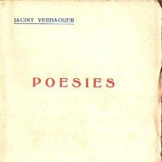 Libros antiguos: JACINT VERDAGUER : POESIES (EDITORIAL. CATALANA, C. 1925) . Lote 128164919
