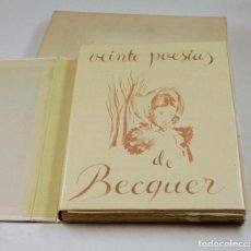 Livres anciens: VEINTE POESÍAS DE BÉCQUER, 1946, ARGOS, ILUSTRACIONES EMILI GRAU SALA, BARCELONA. 29,5X22,5CM. Lote 128967187