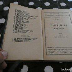 Libros antiguos: SOFOCLES AYAX ELECTRA- EN BIBLIOTECAS POPULARES CERVANTES TAPA A REPEGAR . Lote 128968943