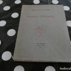 Libros antiguos: MIQUEL COSTA LLOBERA NOVES POESIES PALMA DE MALLORCA 1947 . Lote 128970791