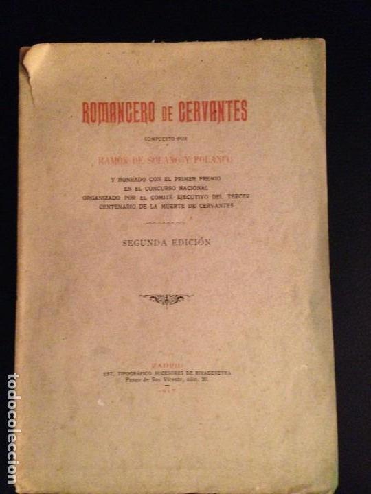 ROMANCERO DE CERVANTES. - RAMÓN DE SOLANO Y POLANCO - 1917 (Libros antiguos (hasta 1936), raros y curiosos - Literatura - Poesía)