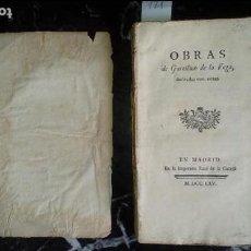 Libros antiguos: GARCILASO DE LA VEGA. POESÍA. CLASICO DEL XVI EN EDICIÓN DEL XVIII.. Lote 129535767