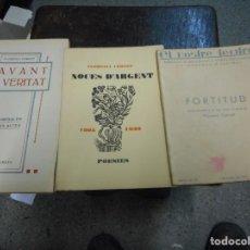 Libros antiguos: TRES LIBROS FLORENCI CORNET AÑOS 30 POESIA TEATRO. Lote 131187940