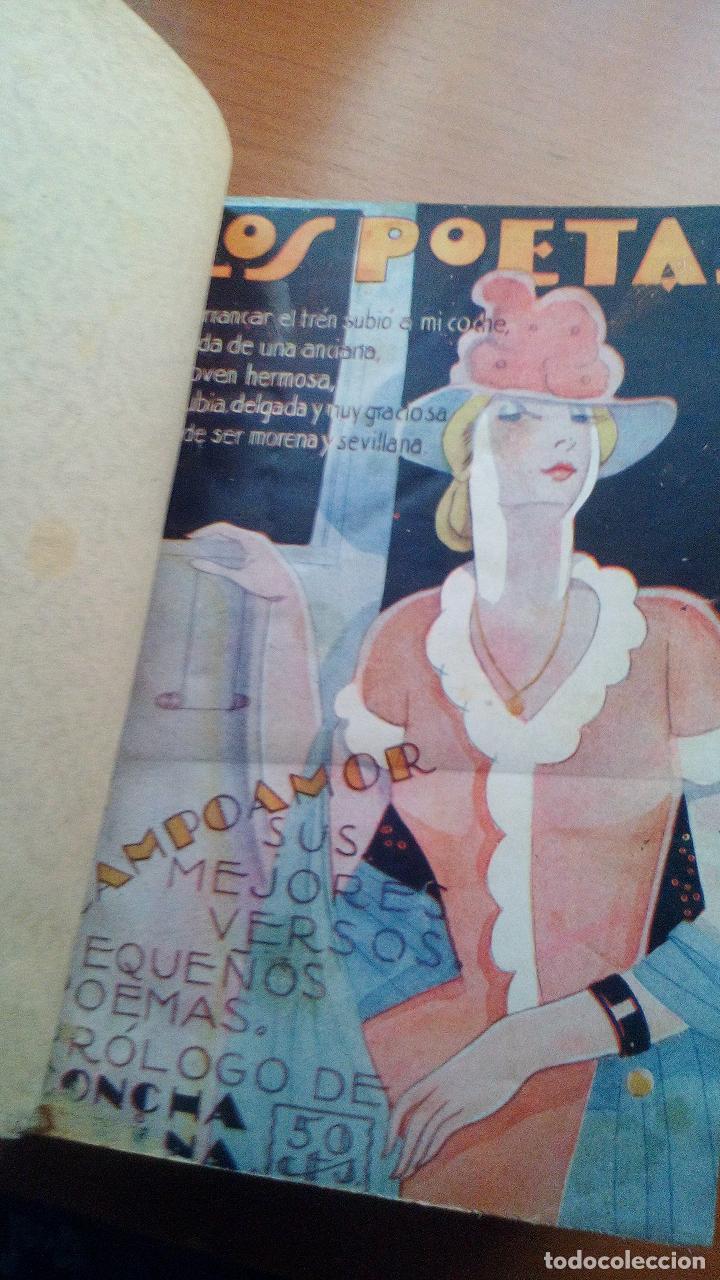 1929 - LOS POETAS CAMPOAMOR Y QUEVEDO - SUS MEJORES VERSOS - 4 LIBROS ENCUARDENADOS (Libros antiguos (hasta 1936), raros y curiosos - Literatura - Poesía)