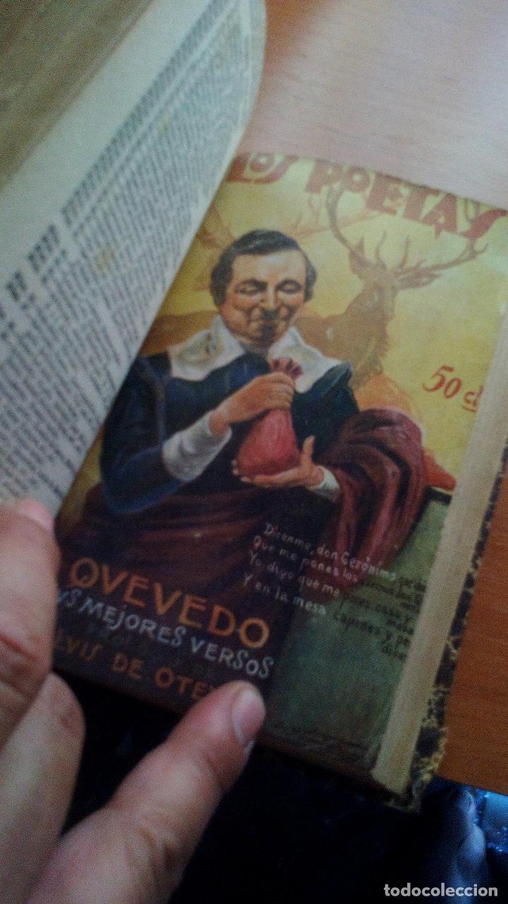 Libros antiguos: 1929 - LOS POETAS CAMPOAMOR Y QUEVEDO - SUS MEJORES VERSOS - 4 LIBROS ENCUARDENADOS - Foto 2 - 131350630