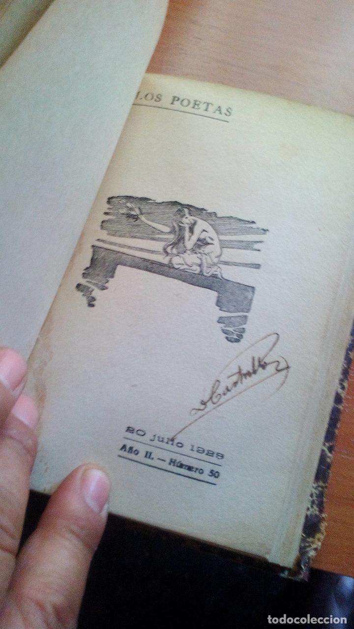 Libros antiguos: 1929 - LOS POETAS CAMPOAMOR Y QUEVEDO - SUS MEJORES VERSOS - 4 LIBROS ENCUARDENADOS - Foto 3 - 131350630