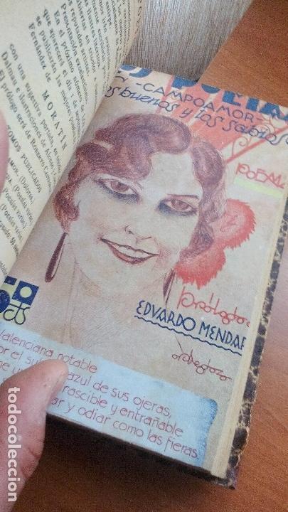 Libros antiguos: 1929 - LOS POETAS CAMPOAMOR Y QUEVEDO - SUS MEJORES VERSOS - 4 LIBROS ENCUARDENADOS - Foto 4 - 131350630