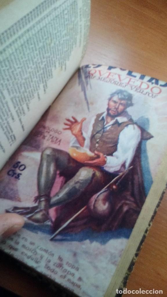 Libros antiguos: 1929 - LOS POETAS CAMPOAMOR Y QUEVEDO - SUS MEJORES VERSOS - 4 LIBROS ENCUARDENADOS - Foto 5 - 131350630