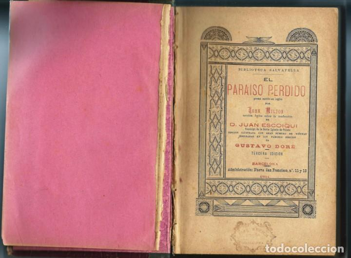 Libros antiguos: El paraiso Perdido - Foto 3 - 132071850
