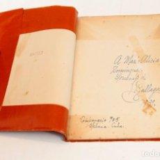 Libros antiguos: EMILIO BALLAGAS : SABOR ETERNO, POEMAS - 1ª ED. DEDICATORIA AUTÓGRAFA DEL AUTOR - 1930. Lote 132382510