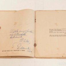 Libros antiguos: EMILIO BALLAGAS: ELEGÍA SIN NOMBRE - DEDICATORIA DEL AUTOR, 1ª ED. 1936 - VANGUARDIAS. Lote 132384382