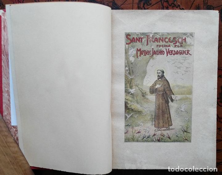 SANT FRANCESCH POEMA PER MOSSEN JACINTO VERDAGUER - 1904 (Libros antiguos (hasta 1936), raros y curiosos - Literatura - Poesía)