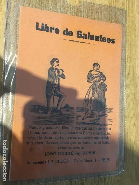 LIBRO DE GALANTEOS . ALMACENES LA FLECA, REUS. SIGLO XIX-XX (Libros antiguos (hasta 1936), raros y curiosos - Literatura - Poesía)