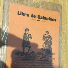 Libros antiguos: LIBRO DE GALANTEOS . ALMACENES LA FLECA, REUS. SIGLO XIX-XX. Lote 133610622