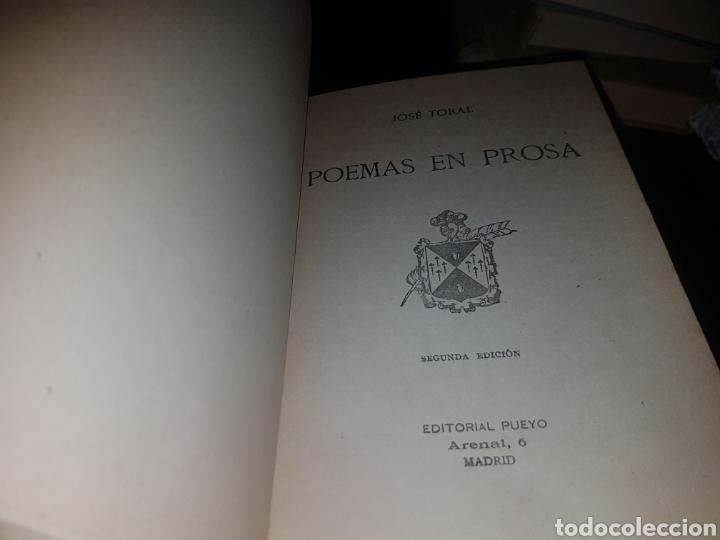 Libros antiguos: Poemas en prosa - toral - - Foto 3 - 134011083