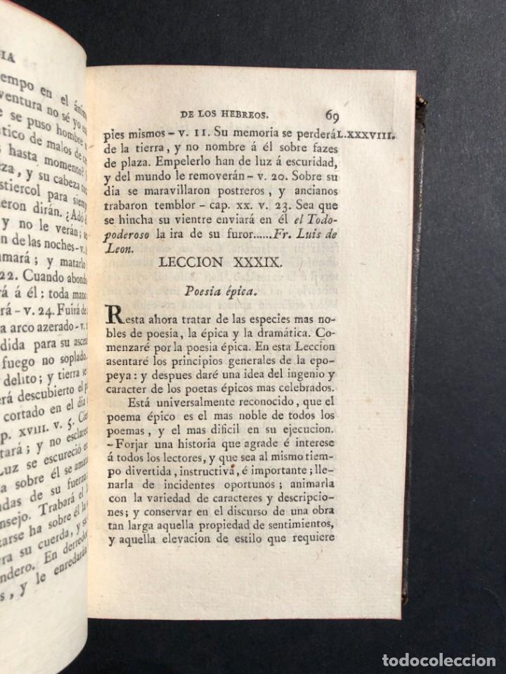 Libros antiguos: 1804 LECCIONES SOBRE LA RETORICA Y LAS BELLAS LETRAS - Poesía - Foto 7 - 134339062