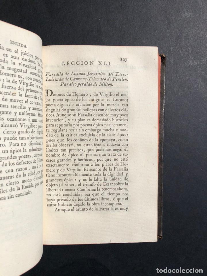 Libros antiguos: 1804 LECCIONES SOBRE LA RETORICA Y LAS BELLAS LETRAS - Poesía - Foto 9 - 134339062