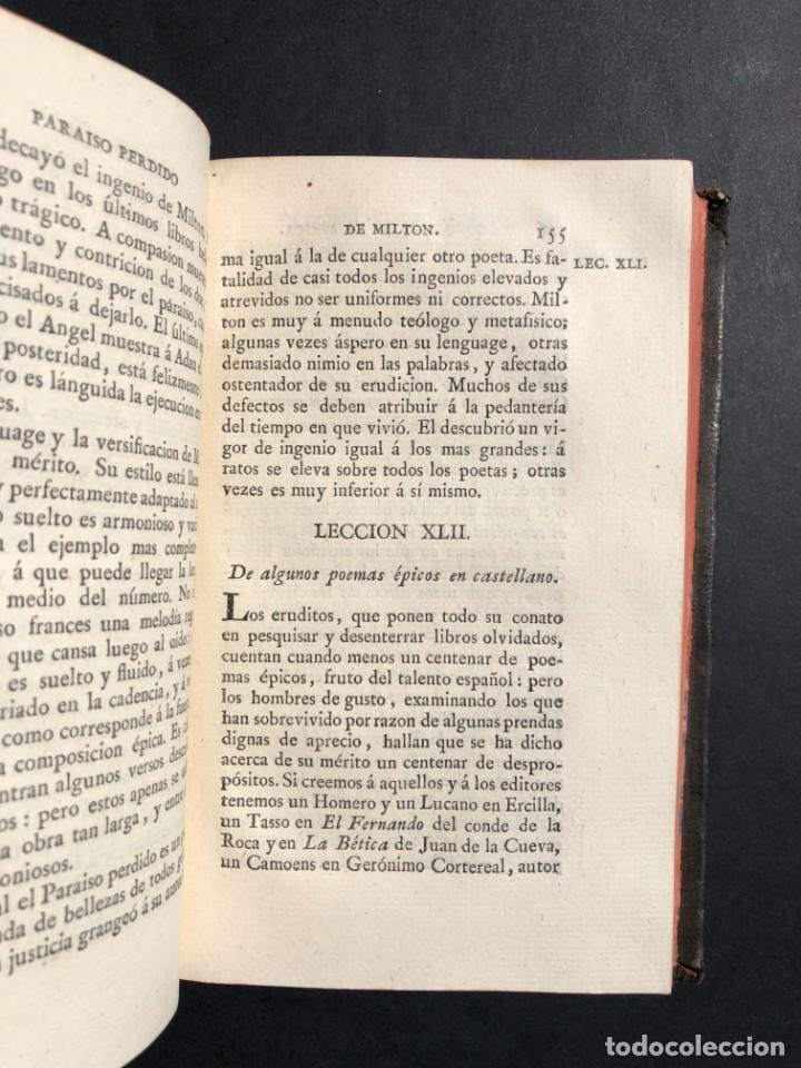Libros antiguos: 1804 LECCIONES SOBRE LA RETORICA Y LAS BELLAS LETRAS - Poesía - Foto 10 - 134339062