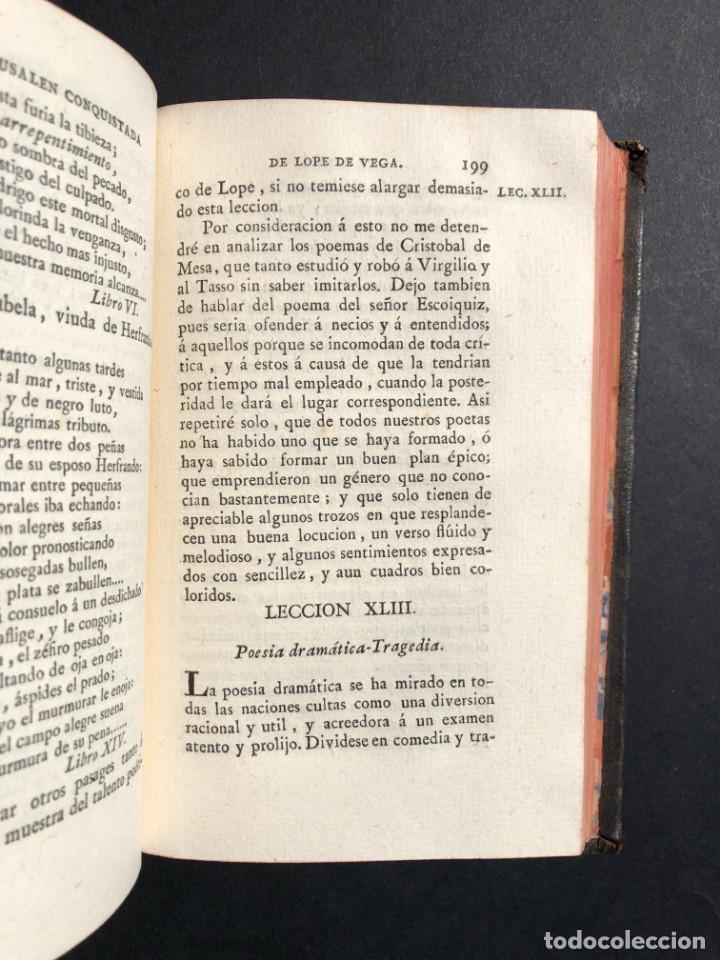 Libros antiguos: 1804 LECCIONES SOBRE LA RETORICA Y LAS BELLAS LETRAS - Poesía - Foto 11 - 134339062