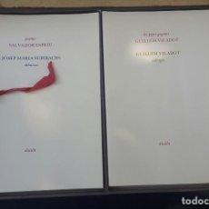 Libros antiguos: DRUÏDA - 1984 - CAIXA AMB 11 LLIBRETS DE POESIA I DIBUIXOS. Lote 135007278