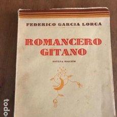 Libros antiguos: ROMANCERO GITANO. FEDERICO GARCÍA LORCA. ESPASA-CALPE, 1937. NOVENA EDICIÓN.. Lote 135100754