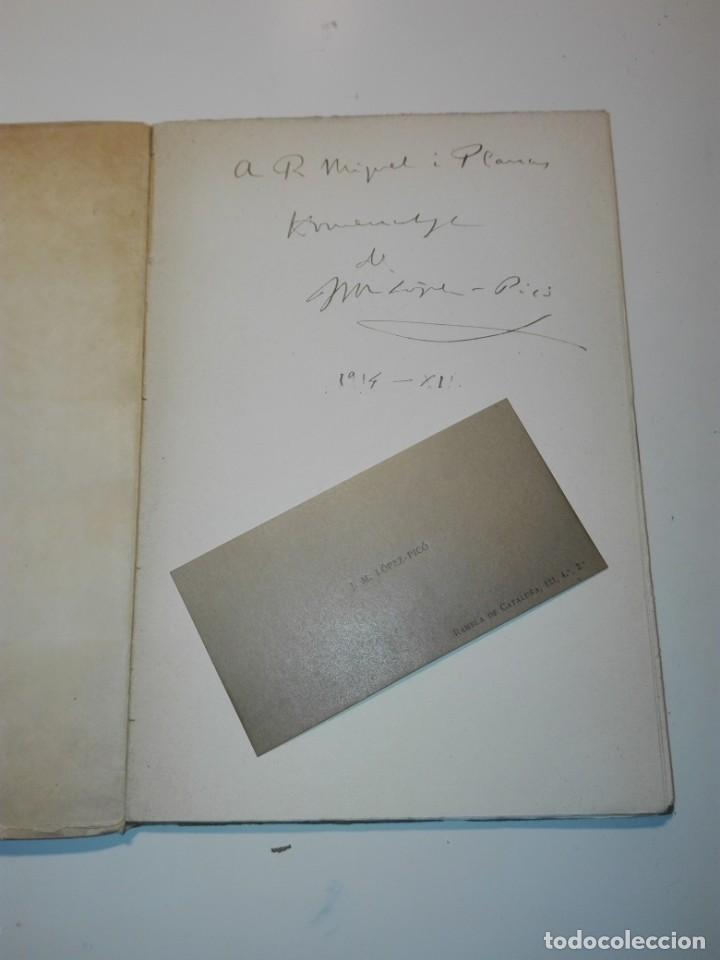 Libros antiguos: Epigrammata. Op. V, J.M. Lopez-Picó. Dedicatoria del autor a R. Miquel y Planas. 1915 - Foto 2 - 135313666