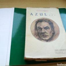 Libros antiguos: LIBRO AZUL, DE RUBÉN DARÍO. VOLUMEN XVI DE SUS OBRAS COMPLETAS. MADRID. 1927. Lote 136129753