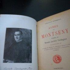 Libros antiguos: AYRES DEL MONTSENY - MOSSEN JACINT VERDAGUER .1A ED. 1901 .ILUSTRADO .BUEN ESTADO . EN CATALÁN .. Lote 136420092