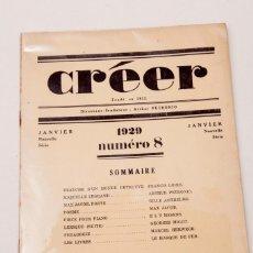 Libros antiguos: REVUE CREER - VANGUARDIAS - 1929 - MAX JACOB : UN POEME - E.L.T.MESENS - ILUSTRADA. Lote 136664154