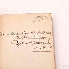 Libros antiguos: JULIO ENRIQUE AVILA : EL VIGIA SIN LUZ - DEDICATORIA AUTOGRAFA DEL AUTOR - PRIMERA EDICION , 1927. Lote 136665094