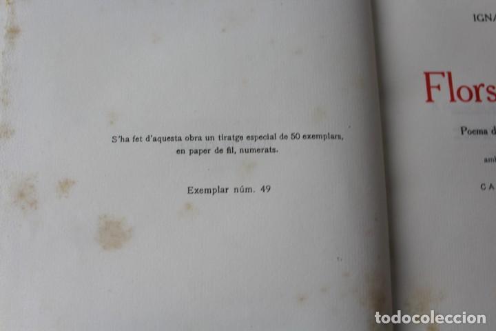 Libros antiguos: L- 3813. FLORS DE CINGLE, IGNASI IGLESIAS. 1912. EXEMPLAR NUMERAT. - Foto 3 - 137640550