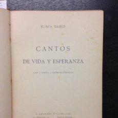 Libros antiguos: CANTOS DE VIDA Y ESPERANZA, DARIO, RUBEN, 1907 (2ª EDICION). Lote 137798350