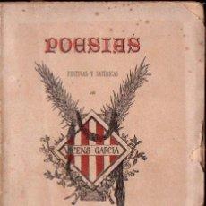 Libros antiguos: VICENS GARCIA, RECTOR DE VALLFOGONA : POESÍAS FESTIVAS Y SATÍRICAS (LÓPEZ, 1887) EN CATALÁN. Lote 138152458