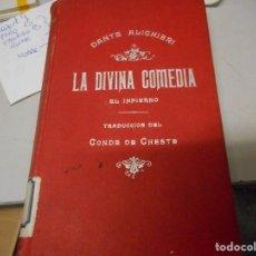 Libros antiguos: LA DIVINA COMEDIA TOMO I, II, III TRADUCCION DEL CONDE DE CHESTE. Lote 139511694