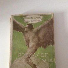Libros antiguos: RUBÉN DARÍO POEMAS DE ADOLESCENCIA VOLUMEN I. Lote 139642934