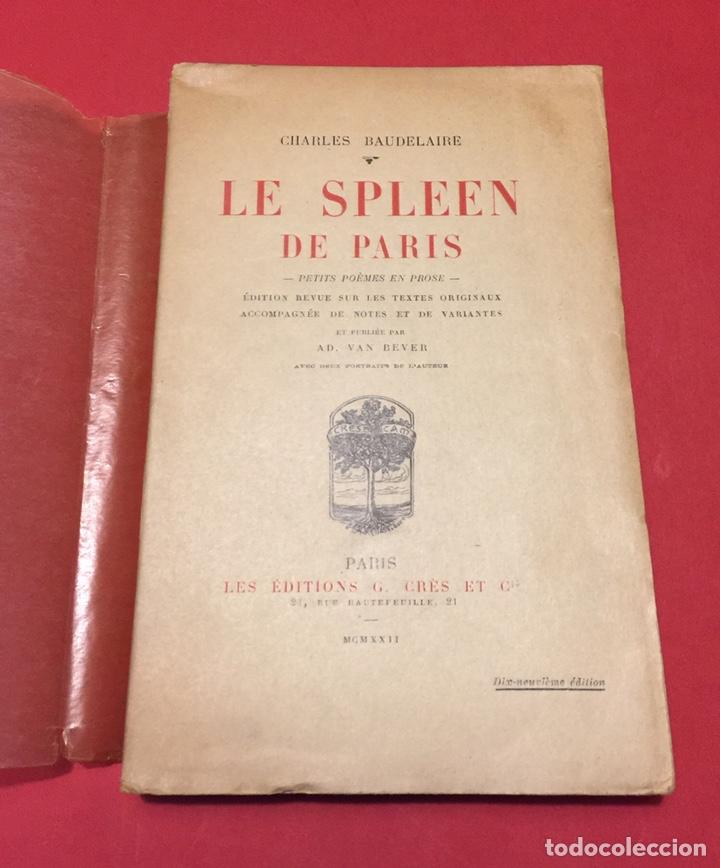 Le Spleen De Paris Petits Poemes En Prose Baudelaire Foto Nadar