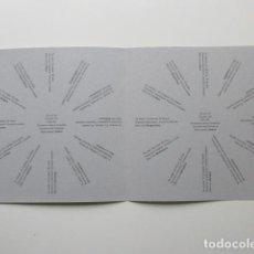 Libros antiguos: POESÍA VISUAL, J.M. CALLEJA, TIEMPOS VERBALES / TEMPS VERBALS, EDICIÓN NUMERADA, POESÍA EXPERIMENTAL. Lote 140951886